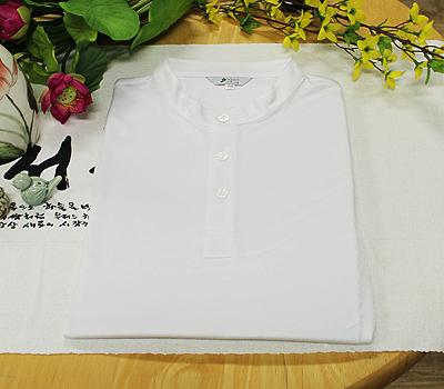 쿨맥스 7부 기능성 티셔츠-흰색(3단추) / 불교용품,법복