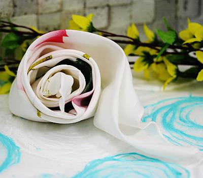 [연꽃세상] 연꽃 손수건 大 (흰색) / 불교용품,기념품