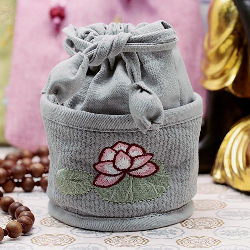 원형 연꽃 염주주머니 / 불교용품/휴대용 염주주머니
