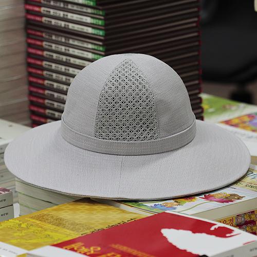 [연꽃세상] 한지 메쉬 챙 여름 모자[원형모]/ 불교용품,스님모자,밀짚모자