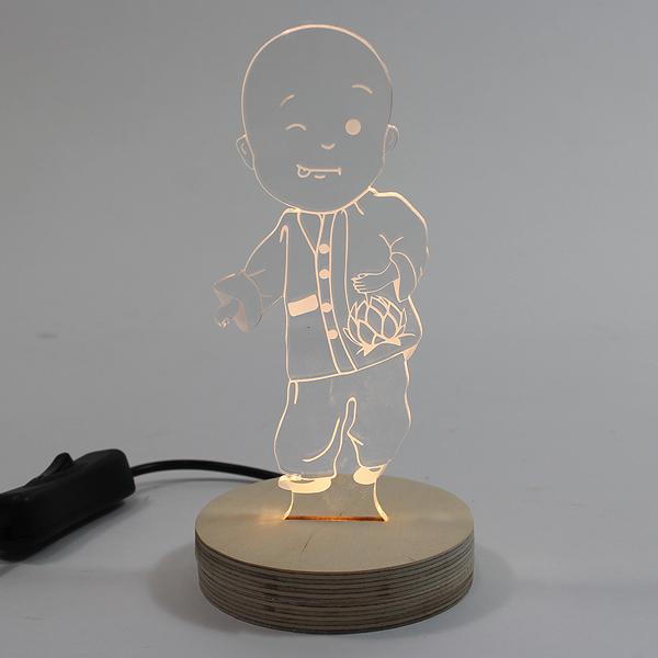 아크릴 캘리그라피 LED조명 (동자승) - 아크릴조명/무드등