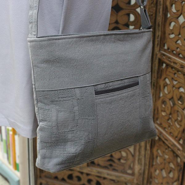 크로스 가방 (회색) - 숄더백/경전가방/불자가방/신행용품