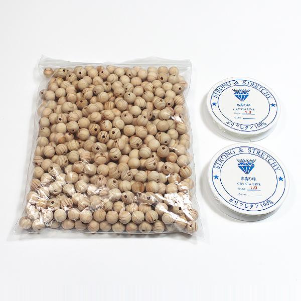 편백나무 구슬 (500개) - 팔찌만들기/편백나무팔찌/염주팔찌