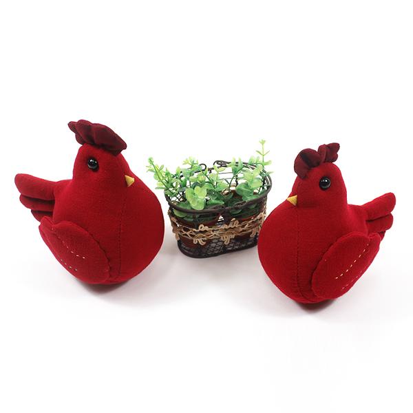 [핸드메이드] 손바느질 닭 인형 (2종 택1) - 정유년 붉은 닭의 해 기념